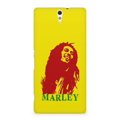 Red Bob Marley being high Sony Xperia C5 printed back cover