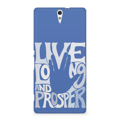 Live long and Prosper- Star trek  design,  Sony Xperia C5 printed back cover