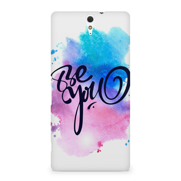 Be yourself design Sony Xperia C5 printed back cover