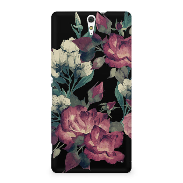 Abstract colorful flower design Sony Xperia C5 printed back cover