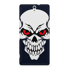 Skull with red eyes design Sony Xperia C5 printed back cover