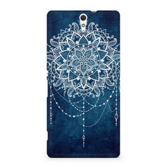 Ethnic design on blue pattern Sony Xperia C5 printed back cover