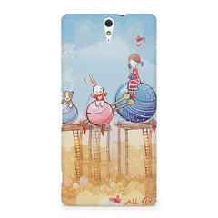 Woollen ball ride sketch design Sony Xperia C5 printed back cover