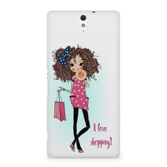 I love shopping quote design Sony Xperia C5 printed back cover