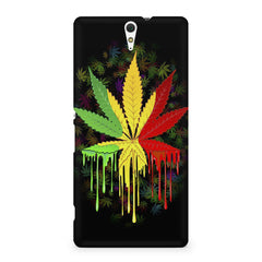 Marihuana colour contrasting pattern design Sony Xperia C5 printed back cover