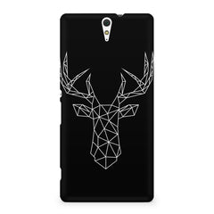 Geometrical reindeer design Sony Xperia C5 printed back cover