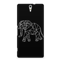 Geometrical elephant design Sony Xperia C5 printed back cover
