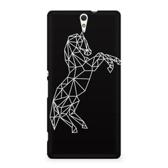 Geometrical horse design Sony Xperia C5 printed back cover
