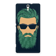 Beard guy with goggle sketch design Sony Xperia C5 printed back cover