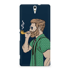 Pipe smoking beard guy design Sony Xperia C5 printed back cover