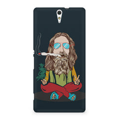 Smoking high design Sony Xperia C5 printed back cover