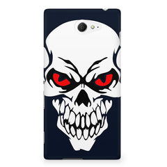 Skull with red eyes design Sony Experia M2 S50H printed back cover