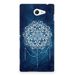 Ethnic design on blue pattern Sony Experia M2 S50H printed back cover