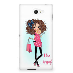 I love shopping quote design Sony Experia M2 S50H printed back cover