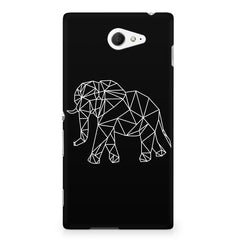 Geometrical elephant design Sony Experia M2 S50H printed back cover