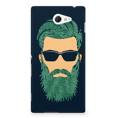 Beard guy with goggle sketch design Sony Experia M2 S50H printed back cover