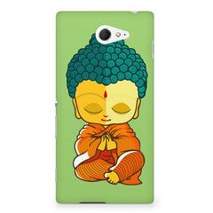 Buddha caricature design Sony Experia M2 S50H printed back cover