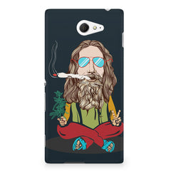 Smoking high design Sony Experia M2 S50H printed back cover