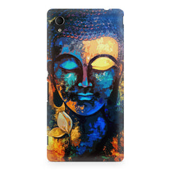 Beautiful Buddha abstract painting full of colors design  Sony Xperia Z2 hard plastic printed back cover