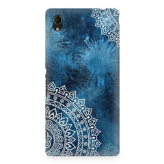 A Vivid Blue ethnic yet cool pattern Sony Xperia Z5/Z5 dual hard plastic printed back cover