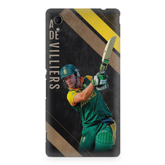 Ab De Villiers the Batting pose    Sony Xperia Z2 hard plastic printed back cover
