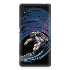 Astronaut space surfing design    Sony Xperia Z2 hard plastic printed back cover