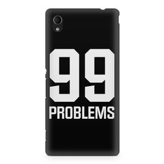 99 problems quote design Sony Xperia M4 aqua printed back cover