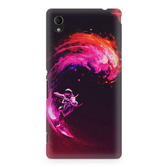 Astronaut surfing in space design Sony Xperia Z2 printed back cover