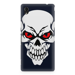 Skull with red eyes design Sony Xperia M4 aqua printed back cover
