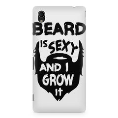 Beard is sexy & I grow it quote design    Sony Xperia Z2 hard plastic printed back cover