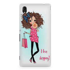 I love shopping quote design Sony Xperia M4 aqua printed back cover