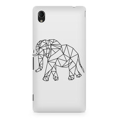 Geometrical elephant design Sony Xperia M4 aqua printed back cover