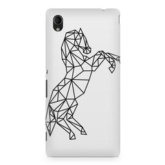 Geometrical horse design Sony Xperia M4 aqua printed back cover