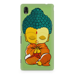 Buddha caricature design Sony Xperia M4 aqua printed back cover