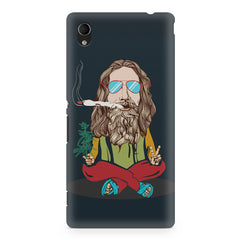 Baba Smoking Cigar design Sony Xperia Z2 hard plastic printed back cover