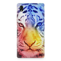Colourful Tiger Design Sony Xperia Z5/Z5 dual hard plastic printed back cover