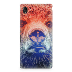 Zoomed Bear Design  Sony Xperia Z5/Z5 dual hard plastic printed back cover