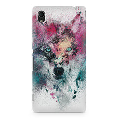 Splashed colours Wolf Design Sony Xperia Z5/Z5 dual hard plastic printed back cover