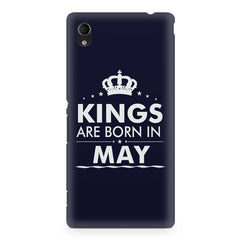 Kings are born in May design    Sony Xperia Z5/Z5 dual hard plastic printed back cover