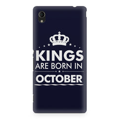 Kings are born in October design    Sony Xperia Z5/Z5 dual hard plastic printed back cover