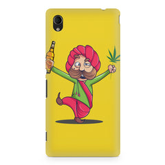 Sardar dancing with Beer and Marijuana  Sony Xperia Z5/Z5 dual hard plastic printed back cover