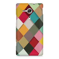 Graphic Design diamonds   Sony Xperia SP M35H printed back cover