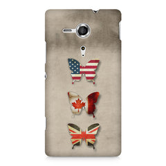 Butterfly in country flag colors Sony Xperia SP M35H printed back cover