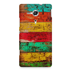 Strips of old painted woods  Sony Xperia SP M35H printed back cover