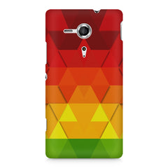 Colourful texture pattern Sony Xperia SP M35H printed back cover