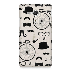 Retro theme for classic men Sony Xperia SP M35H printed back cover