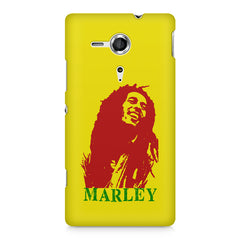 Red Bob Marley being high Sony Xperia SP M35H printed back cover