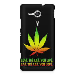 Love the Life you live and live the life you love Sony Xperia SP M35H printed back cover