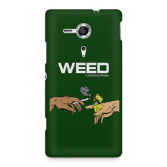 Weed connecting people  Sony Xperia SP M35H printed back cover