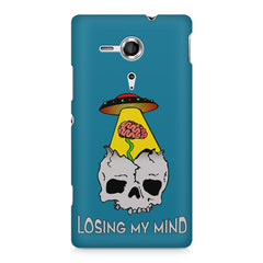 Losing my mind funny design Sony Xperia SP M35H printed back cover